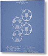 Vintage Soccer Ball Patent Drawing From 1964 Metal Print by Aged Pixel