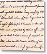 4th Amendment  Metal Print by Jim Pruitt