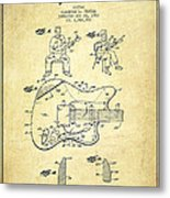 Fender Guitar Patent Drawing From 1960 Metal Print by Aged Pixel