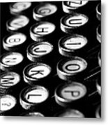 Typewriter Keys Metal Print by Falko Follert