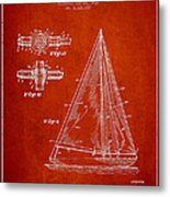 Sailboat Patent Drawing From 1938 Metal Print by Aged Pixel
