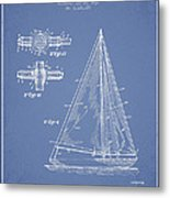 Sailboat Patent Drawing From 1938 Metal Print