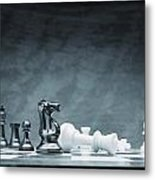 A Chess Game Metal Print by Don Hammond