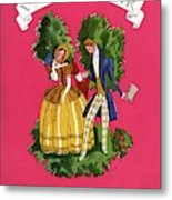 A Couple In Period Costume Metal Print