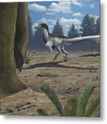A Deinonychosaur Leaves Tracks Metal Print