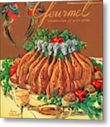 A Gourmet Cover Of Chicken Metal Print by Henry Stahlhut