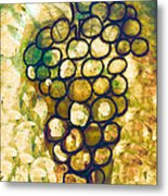 A Little Bit Abstract Grapes Metal Print by Jo Ann