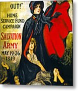 A Man May Be Down . . .   1919 Metal Print by Daniel Hagerman