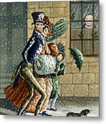 A Merry Christmas And Happy New Year Metal Print