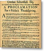 A Proclamation Of Thanksgiving Metal Print