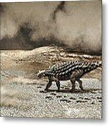 A Saichania Chulsanensis Dinosaur Metal Print