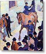 A Sale At Tattersalls, 1911 Metal Print by Robert Polhill Bevan