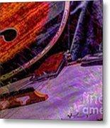 A Southern Combination Digital Banjo And Guitar Art By Steven Langston Metal Print by Steven Lebron Langston