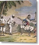 A Troupe Of Bayaderes, Or Indian Metal Print by Pierre Sonnerat