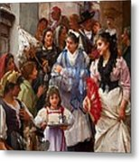 A Venetian Christening Party, 1896 Metal Print by Henry Woods