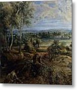 A View Of Het Steen In The Early Morning Metal Print by Peter Paul Rubens