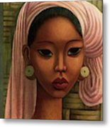 A Woman From Bali Metal Print