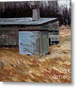 Abandoned Ice House Circa Late 1800.s Metal Print by Charlie Spear