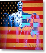 Abraham Lincoln - Freedom Metal Print by Wingsdomain Art and Photography