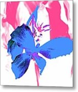 Abstract Blue Metal Print by Cathie Tyler