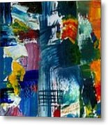 Abstract Color Relationships L Metal Print