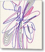 Abstract Drawing Fifty-six Metal Print