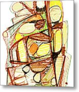 Abstract Pen Drawing Sixty-three Metal Print
