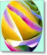 Abstract Rose Oval Metal Print