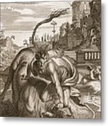 Achelous In The Shape Of A Bull Metal Print