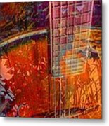 Acoustic Dreams Digital Guitar Art By Steven Langston Metal Print by Steven Lebron Langston
