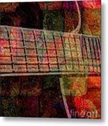 Acoustic Palette Digital Guitar Art By Steven Langston Metal Print by Steven Lebron Langston