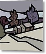 Adam's Farm In Winter Metal Print by Kenneth North