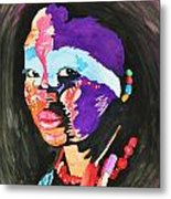African Woman Metal Print by Glenn Calloway