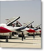 Airmen Conduct Preflight Preparations Metal Print