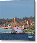 Alton Belle Casino Metal Print by Peggy Franz
