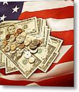 American Currency  Metal Print by Les Cunliffe