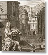 Amphion Builds The Walls Of Thebes Metal Print by Bernard Picart