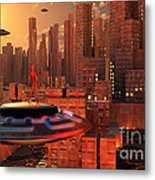 An Alien Race Migrating Metal Print by Mark Stevenson