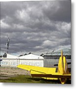 An Old Communist-era Zlin Z-37a Crop Metal Print