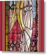 Angel Stained Glass Window Metal Print by Thomas Woolworth