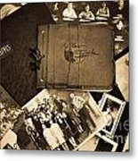 Antique Autograph And Photo Albums And Photos Metal Print by Amy Cicconi