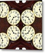 Antique Clock Abstract . Horizontal Metal Print by Renee Trenholm