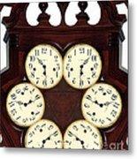 Antique Clock Abstract . Standard Metal Print by Renee Trenholm