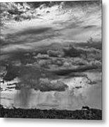 Approaching Storm Black And White Metal Print by Douglas Barnard