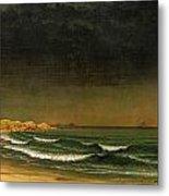 Approaching Storm Near Newport Beach Metal Print by Martin Heade