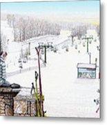 Apres-ski At Hidden Valley Metal Print by Albert Puskaric