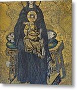 Apse Mosaic Hagia Sophia Virgin And Child Metal Print by Ayhan Altun