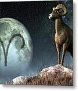 Aries Zodiac Symbol Metal Print