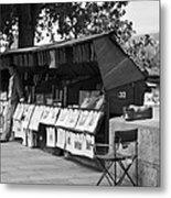 Art Seller On The Left Bank - Paris People Series Metal Print by Georgia Fowler