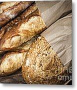 Artisan Bread Metal Print